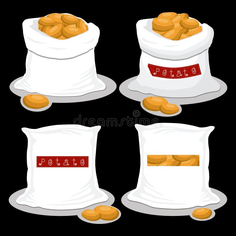 Worki z naturalnym słodkim jedzeniem ilustracja wektor
