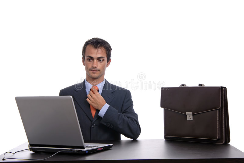 Download Working stock photo. Image of male, isolated, personal - 3185032
