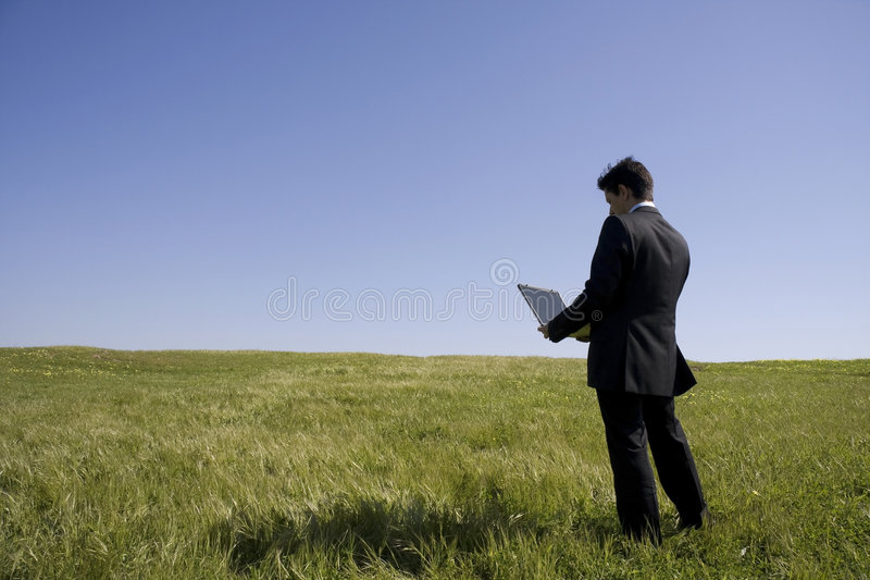 Download Working stock image. Image of meadow, health, internet - 8693163