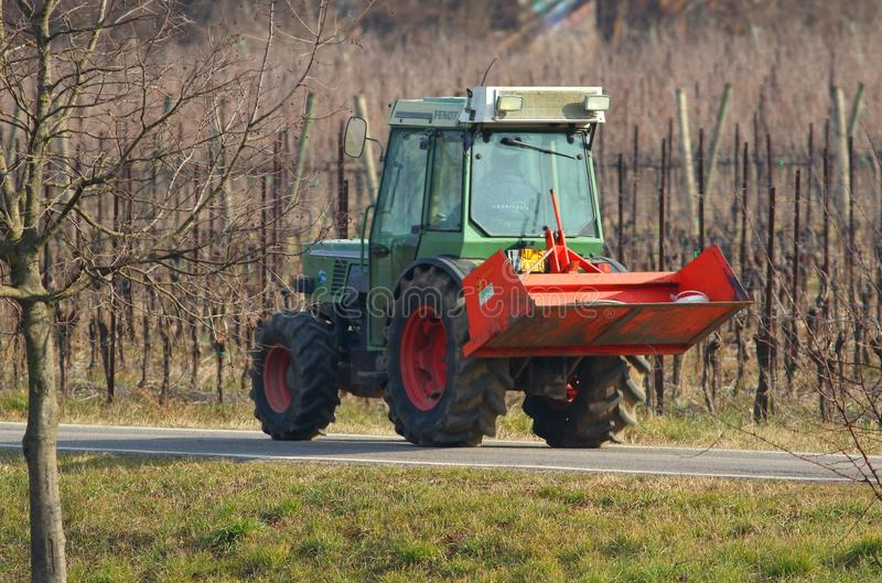 Tractors indispensable in agriculture stock images