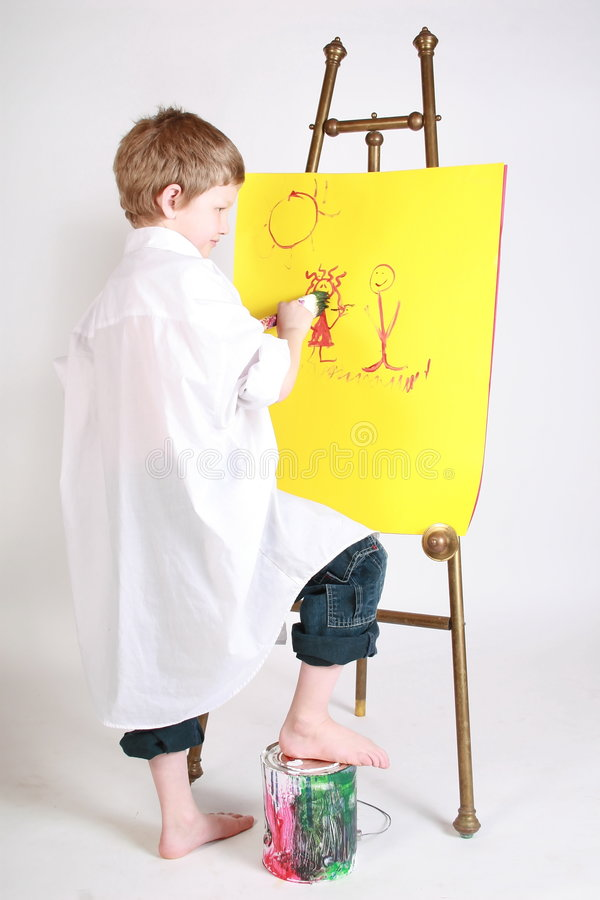 Download Working on art stock photo. Image of enjoyment, smile - 2103672