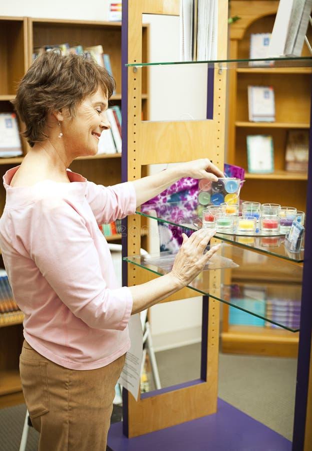 Download Working in Bookstore stock photo. Image of clerk, customer - 15659384