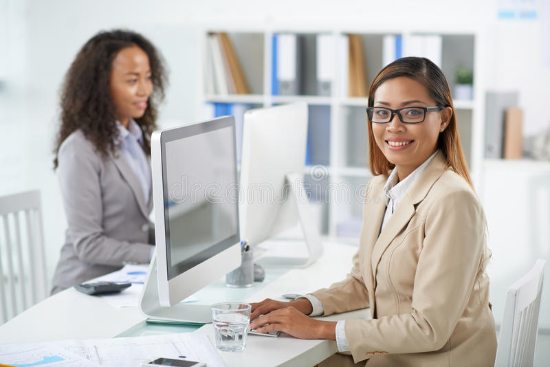 Working business lady stock photos
