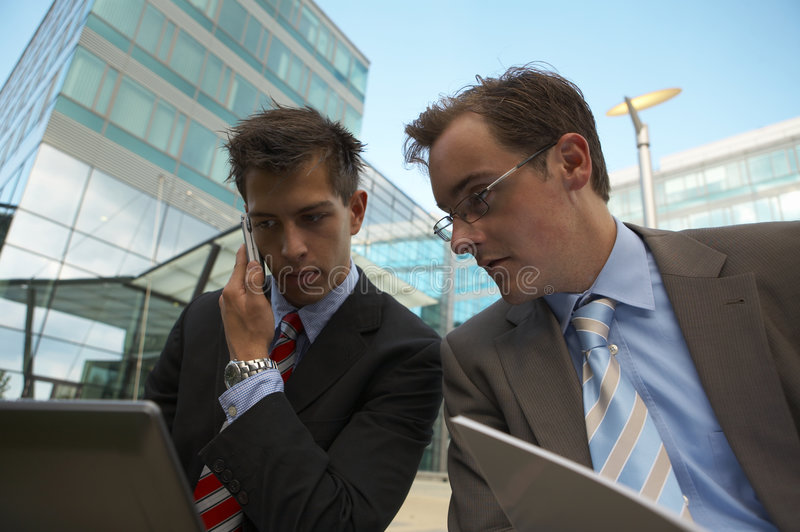 Download Working business men stock photo. Image of laptop, success - 3131546