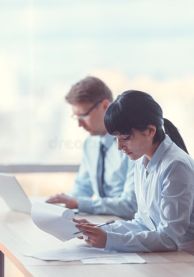 Working business people royalty free stock photos