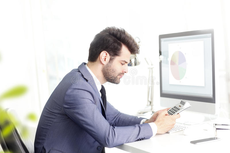 Working on business plan stock photos