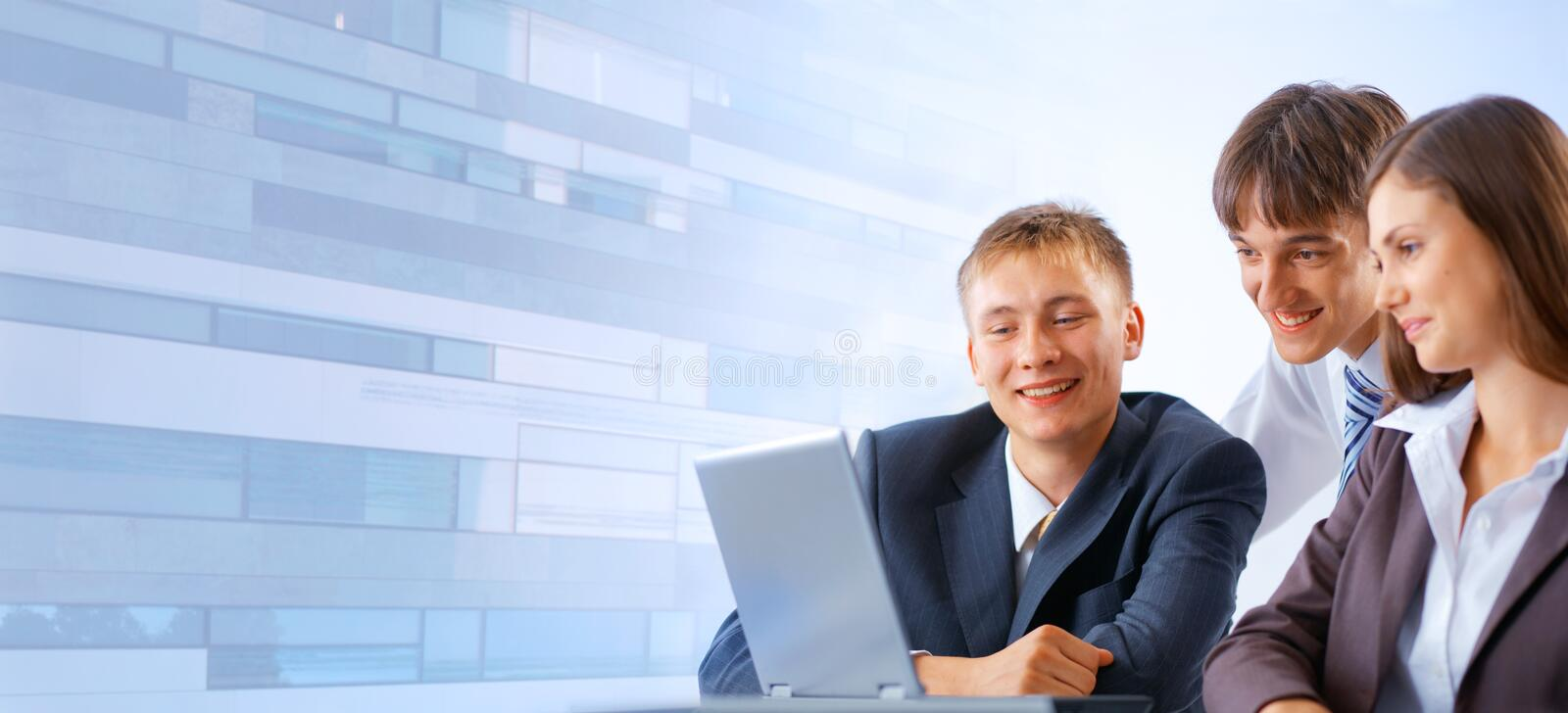Download Working business team stock photo. Image of laptop, modern - 11550316