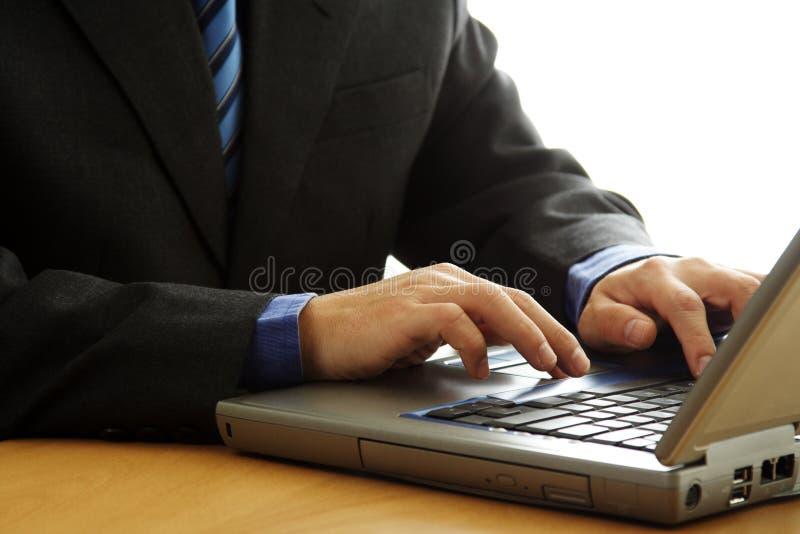 Working businessman stock photo