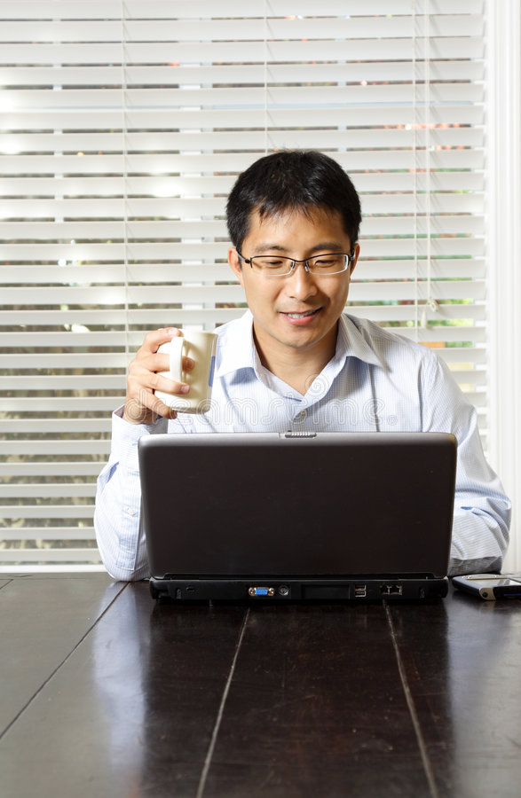Download Working businessman stock photo. Image of relaxed, electronic - 2843376
