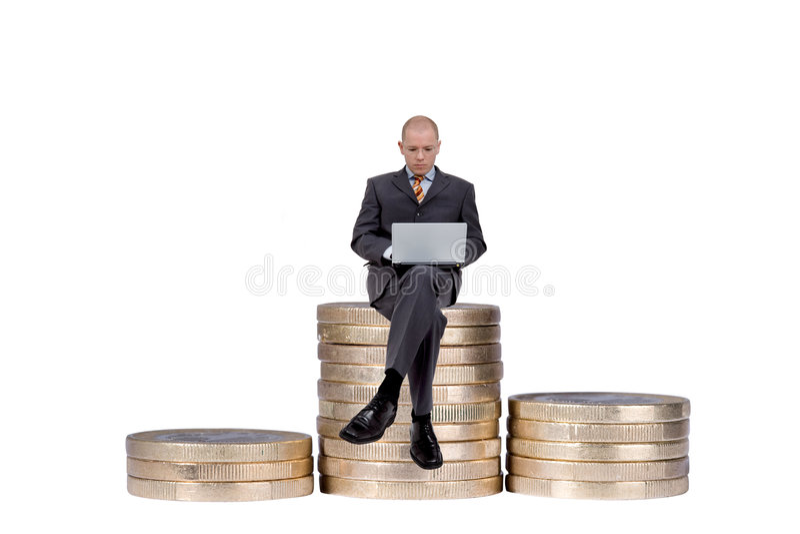Working businessman royalty free stock photo