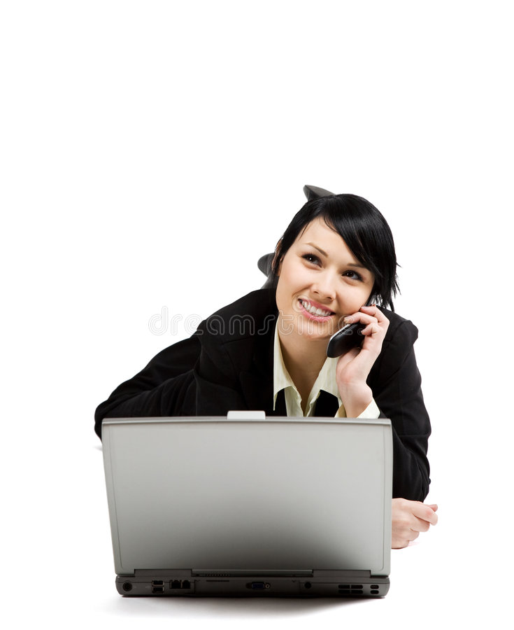 Download Working businesswoman stock photo. Image of business, cute - 5167012