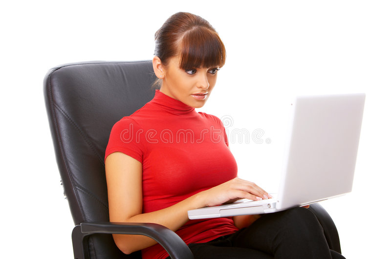Working on the chair stock photography