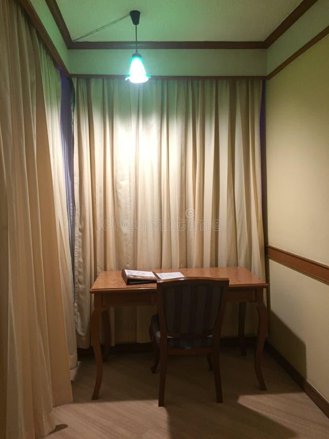 Working corner in the quiet room stock image