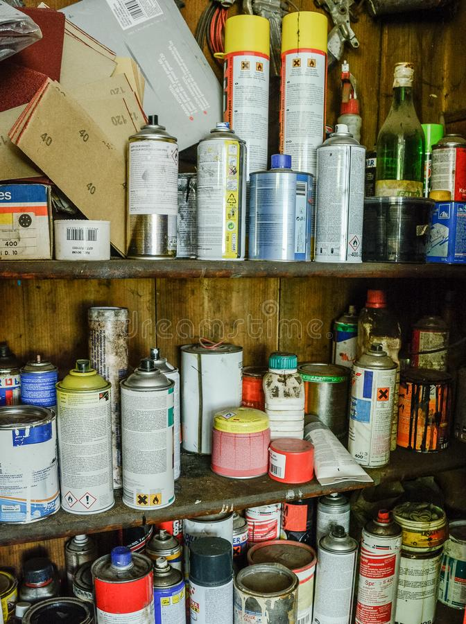 Download Full Working Closet Of Cans Editorial Stock Photo   Image Of  Normal, Colors:
