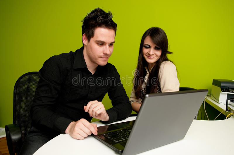 Download Working on computer stock photo. Image of handsome, cute - 14224808
