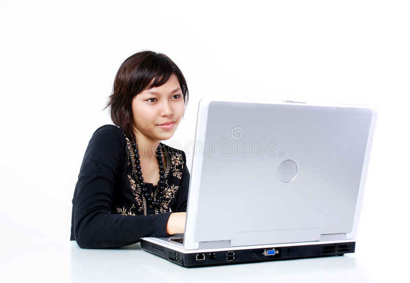 Working on computer royalty free stock images