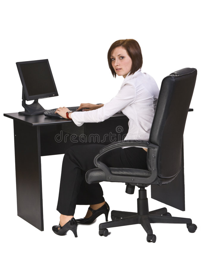 Download Working on a computer stock image. Image of career, confident - 7554045