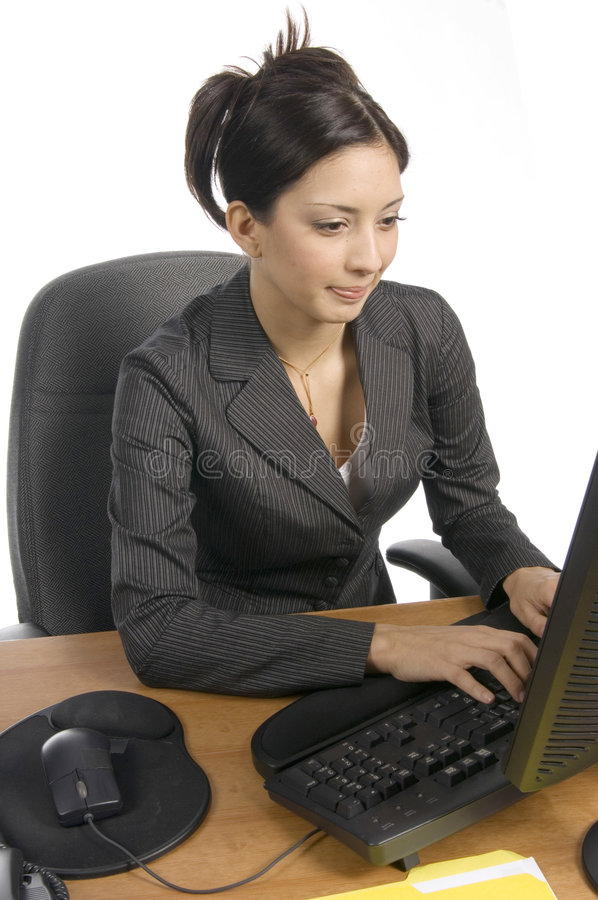 Download Working on a contract stock image. Image of think, discussion - 529601
