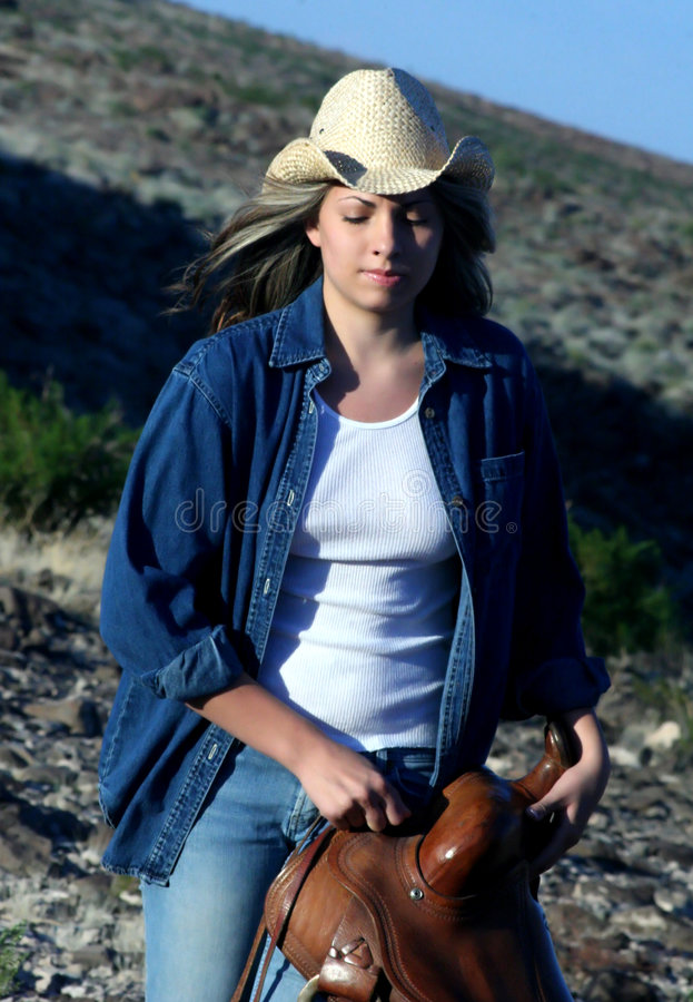 Working Cowgirl royalty free stock photos