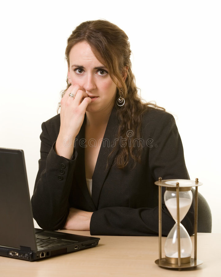 Working On A Deadline Royalty Free Stock Photo
