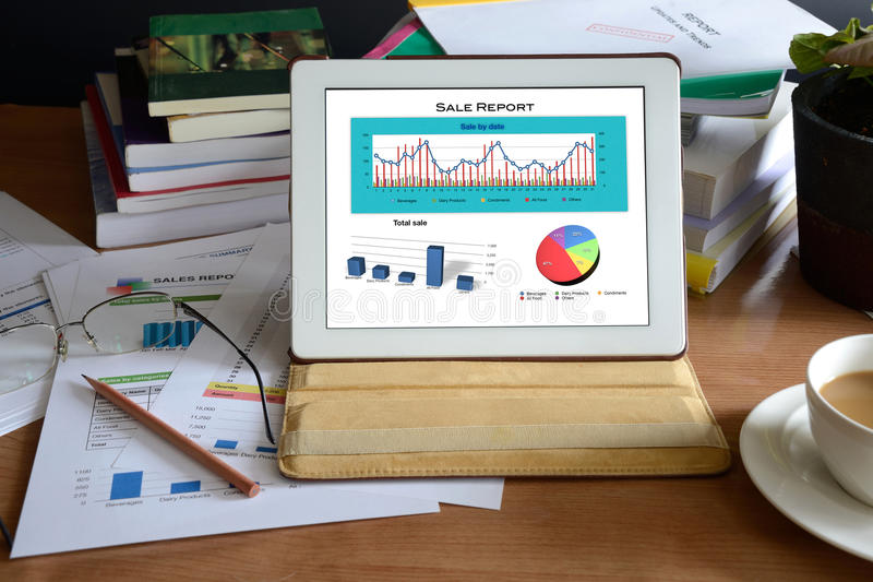 Download Working desk stock image. Image of report, graph, glasses - 31716589