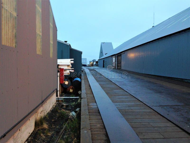 Working dock in Port Moller, Alaska royalty free stock photos