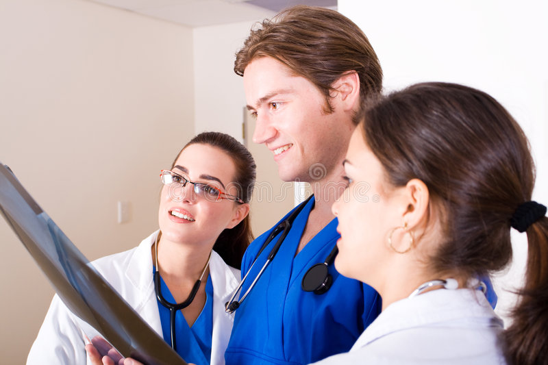 Download Working doctors stock image. Image of caucasian, discussing - 9084875