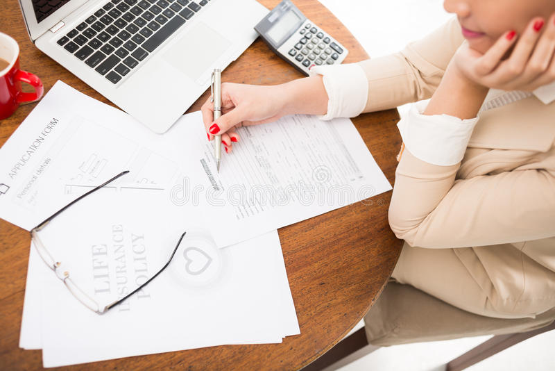 Working with documents royalty free stock image