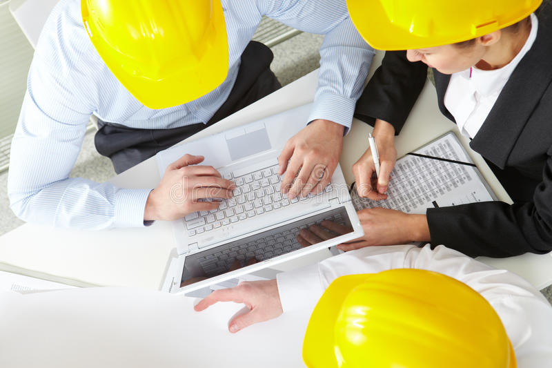 Download Working engineers stock image. Image of above, collaboration - 17787835