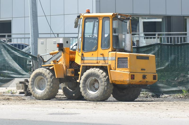 Excavator. Machinery, activity. stock image