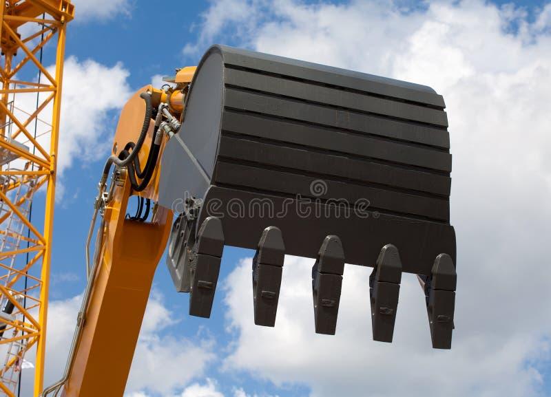 Working excavator shovel royalty free stock photo