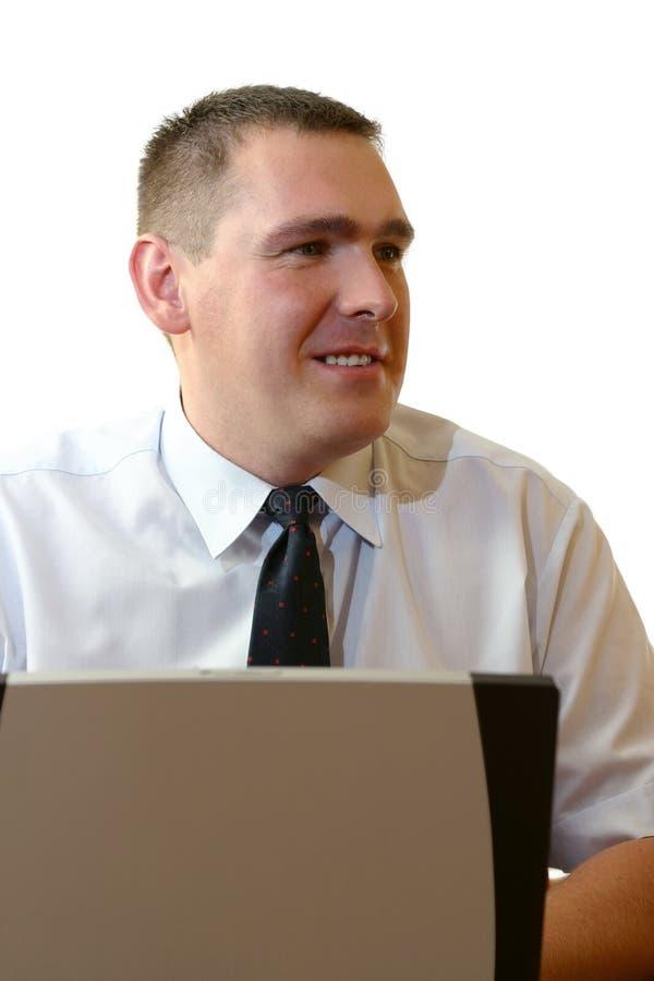 working för affärsbärbar datorfolk royaltyfri foto