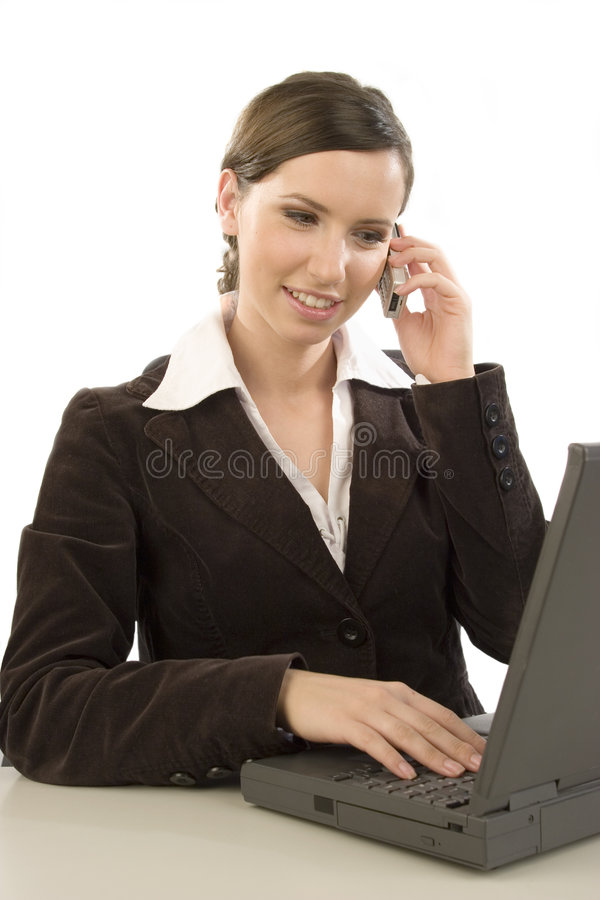 working för celltelefon royaltyfri fotografi