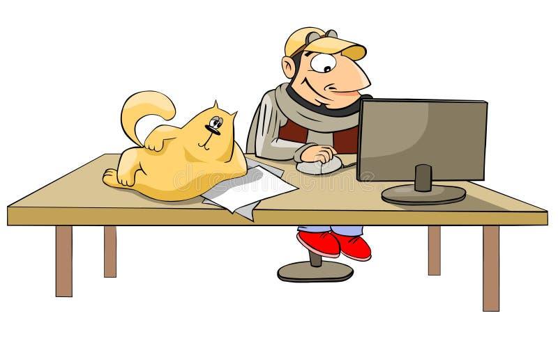 working för datorman stock illustrationer
