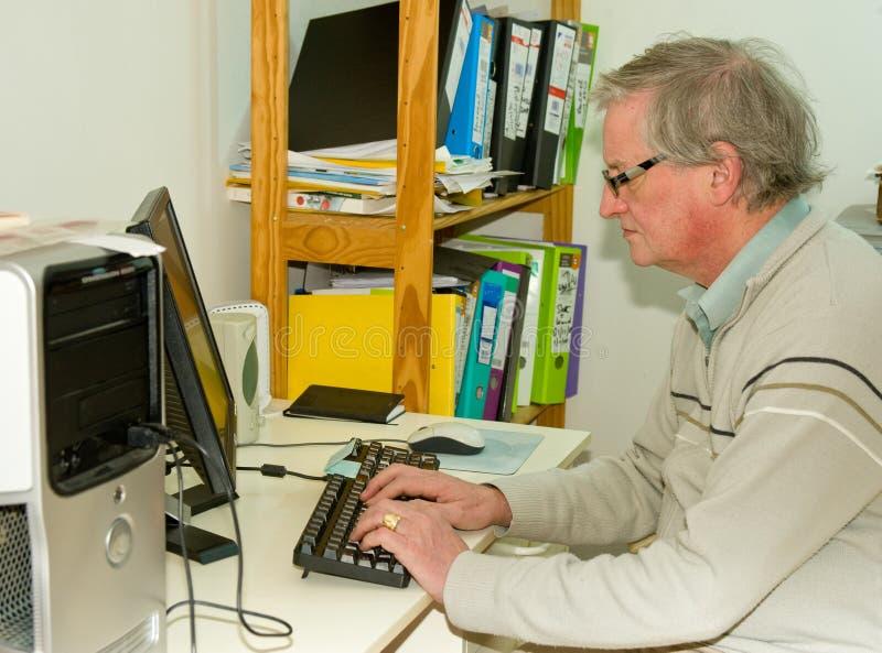 working för home internet för affär lyckad arkivbild