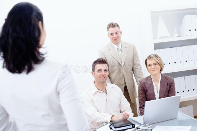 working för lag för affärskontor royaltyfri foto