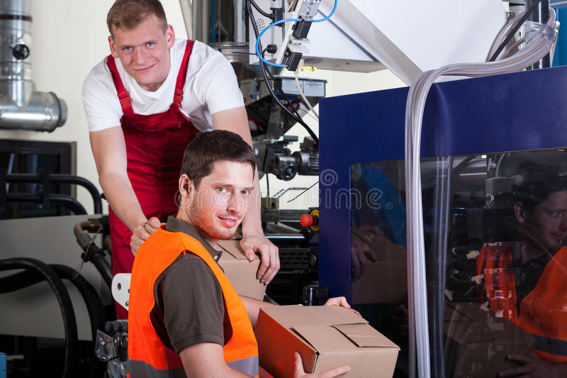 Working factory workers royalty free stock photography