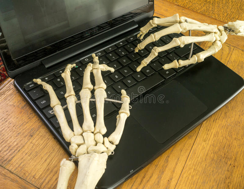 Download Working Fingers To The Bone Stock Photo - Image of computing, halloween: 26081914