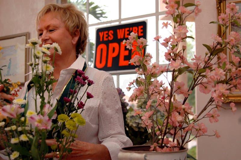Working florist royalty free stock photos