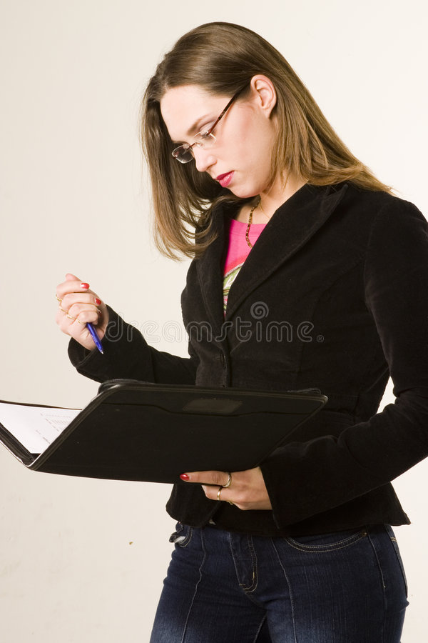 Working girl royalty free stock photos