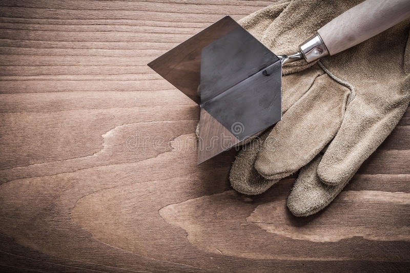 Working gloves and angle former.  royalty free stock photo