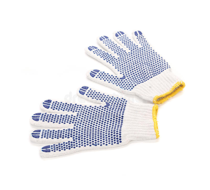 Working gloves. Isolated on a white background stock images