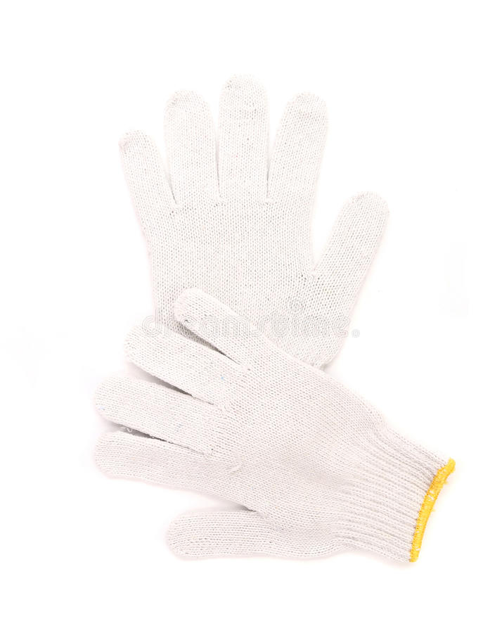 Working gloves. Isolated on a white background royalty free stock photography