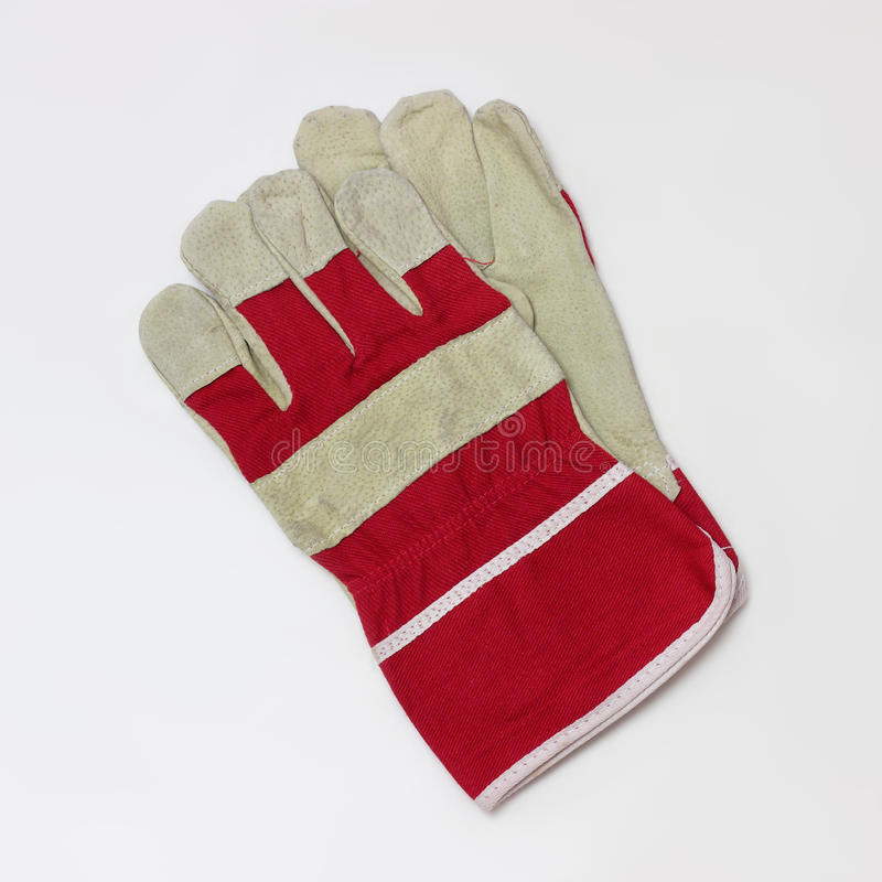 Working Gloves. Isolated. Working Gloves on a white background. It is isolated, the worker of paths is present royalty free stock photo