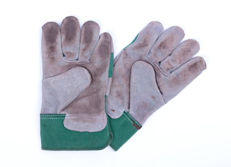 Working gloves isolated royalty free stock photos