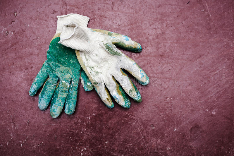 Working gloves royalty free stock image