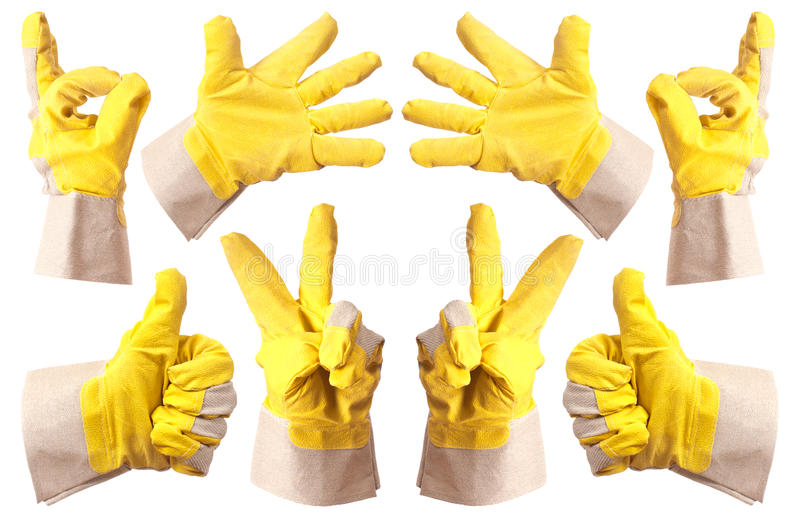 Working gloves royalty free stock photo