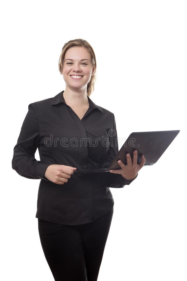 Working on the go royalty free stock photo