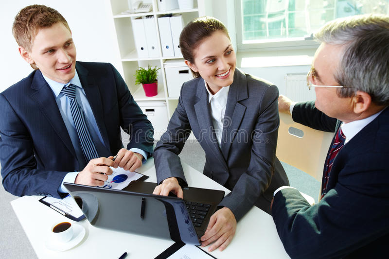 Download Working in group stock image. Image of businessman, computer - 25443159