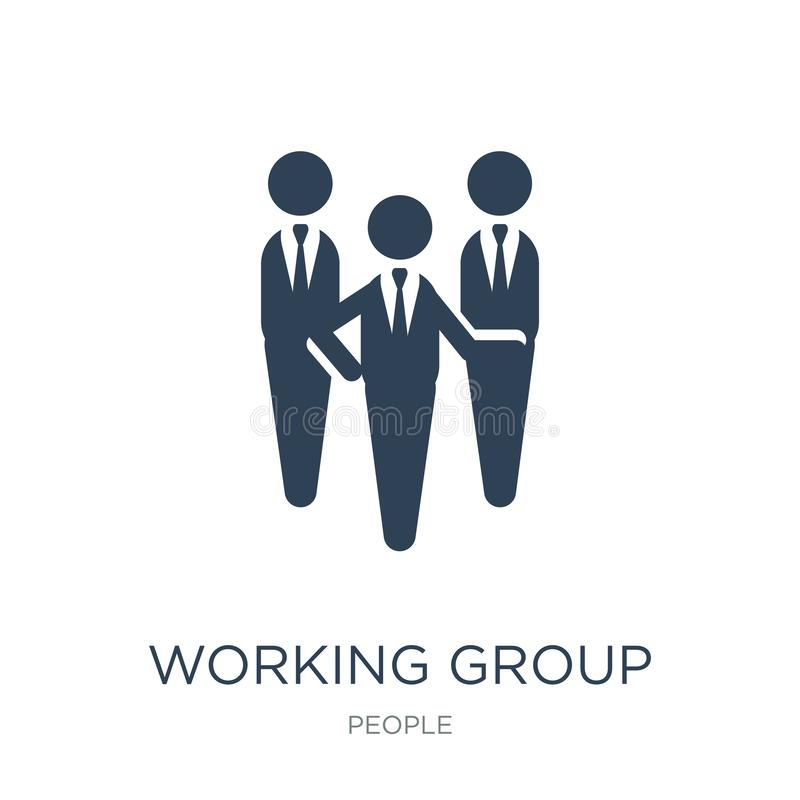 Working group icon in trendy design style. working group icon isolated on white background. working group vector icon simple and. Modern flat symbol for web royalty free illustration